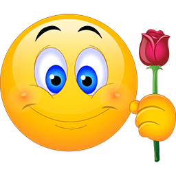 Here's A Rose Emoticon
