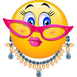 Lady Bling Emoticon