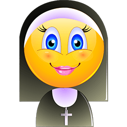 Nun Smile Emoticon