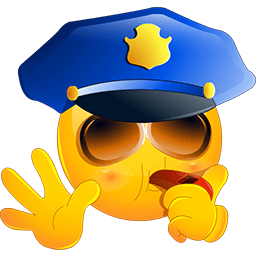 Police Stop Emoticon
