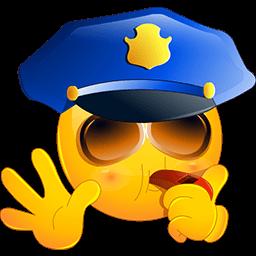 Police Stop Emoticon