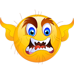 Angry Devil Emoticon