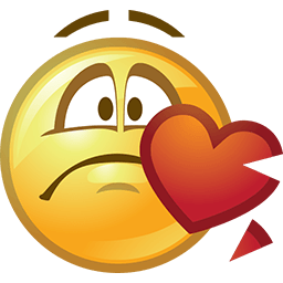 My Heart Chipped Emoticon