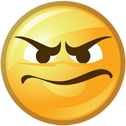 Frowny Grin Emoticon