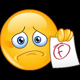 Sad Failure Emoticon