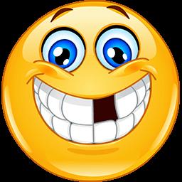Broken Tooth Grin Emoticon