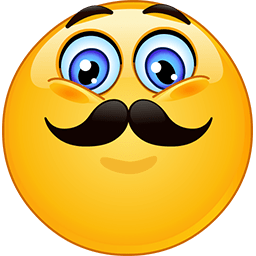 Movember Smile Emoticon