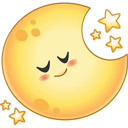 Asleep Moon Emoticon