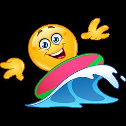Surfing Fun Emoticon