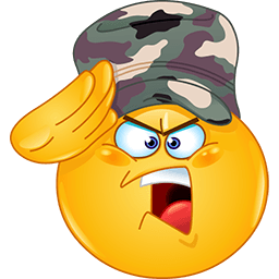 Military Salute Emoticon