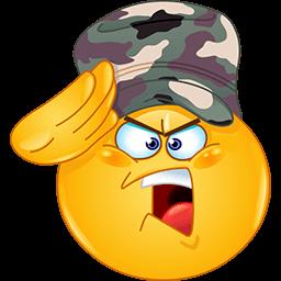 Military Salute Emoticon