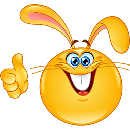 Bunny Thumbs Up Emoticon