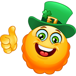 St Patrick's Day Emoticon