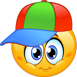 Coloured Cap Emoticon