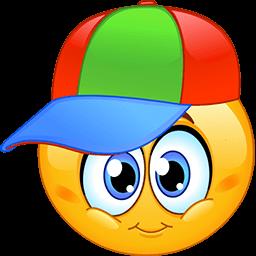 Coloured Cap Emoticon