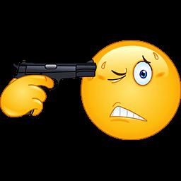 Gun To My Head Emoticon