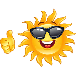 Sun Thumbs Up Emoticon