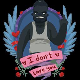 Don't Love U Black Guy Emoticon