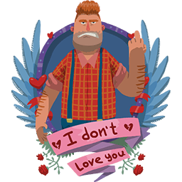 Don't Love U Big Guy Emoticon