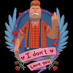 Don't Love U Big Guy Emoticon