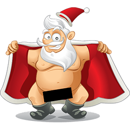 Santa Flashing Emoticon